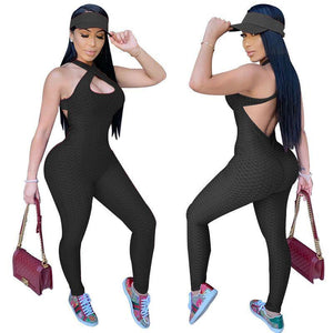 Viladress  2020 Jumpusit Sports Jumpsuit Bandage Jumpsuit