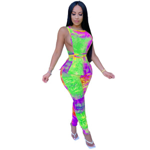 Viladress  2020 Night Club Outfit Sexy Sleeves Tops and Pants Two Pieces Night Club Outfit