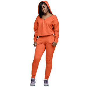 Viladress  Women Outfit two Pieces Sweatsuit Women Hoodie Outfit