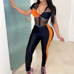 Viladress Sexy Jumpsuit Sexy See-through Women Jumpsuit