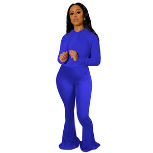 Viladress 2020 Women Hoodie and String Pants Two Pieces Outfits