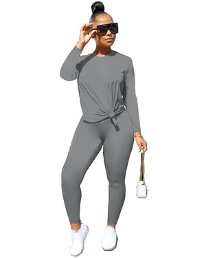 Viladress Women T-shirt and Women Sweat Pants Two Pieces Autumn Outift