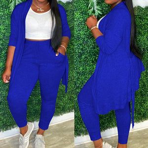 Viladress Women Sweatsuits Long Tops Cardigan and Sweat Pants Two Pieces Outfits
