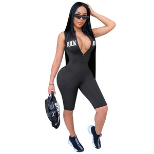 Viladress Women Romper Sexy Romper V-neck Rompersuit