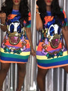 Sequined Donald Duck Mini Dress