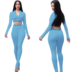 Viladress Women Crop tops and Women Skinny Pants Two Pieces Outfits
