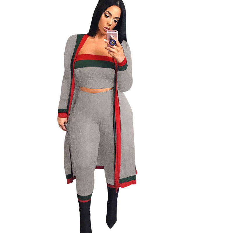 Viladress 2020 Autumn 2020 Winter Women Tank Tops and Women pants and Cardigan Three Pieces Outfits