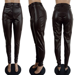 Viladress women Pants PU Pants