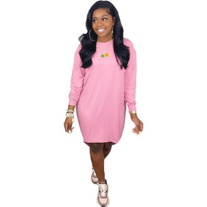 Viladress Woman Dress Mini Dress Long Sleeves Women Dress