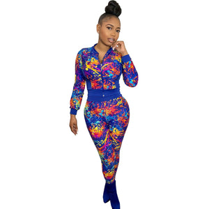 Viladress Women Printing Two Pieces Outfits