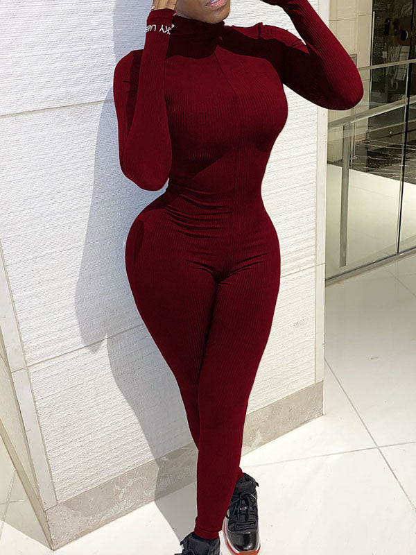 Viladress Skinny Jumpsuit Women Jumpsuit Long Sleeves Jumpsuit