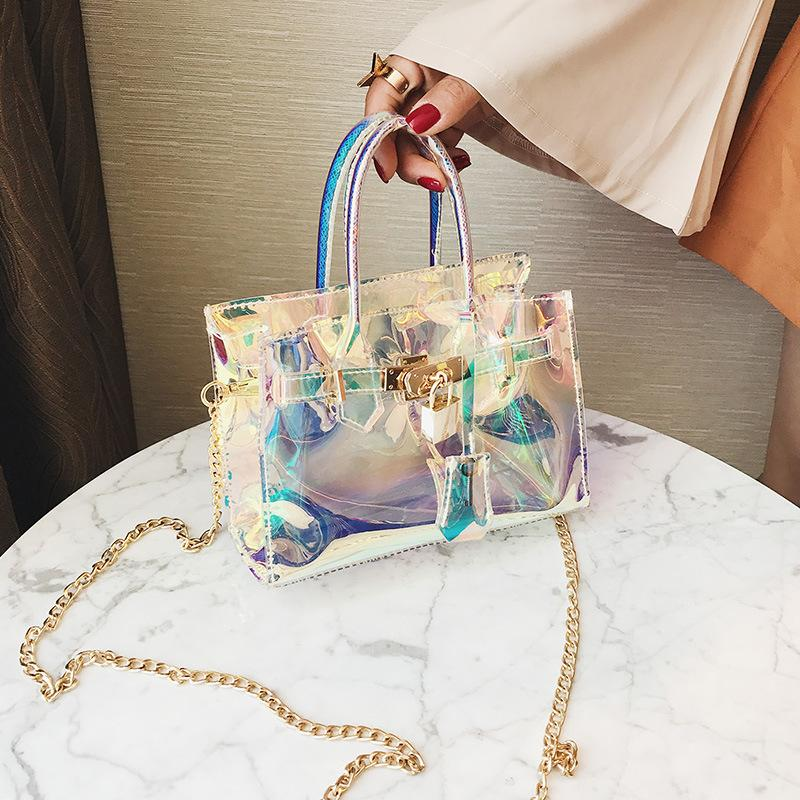 Viladress Transparent Laser Birkin Bag Women Handbag
