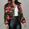 Viladress 2020 Winter Women Jacket Camo Printing Jacket Cotton-padded Women Jacket
