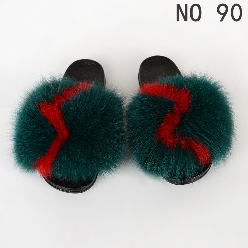 Viladress Women Slippers Furry Sandals Women Sandals