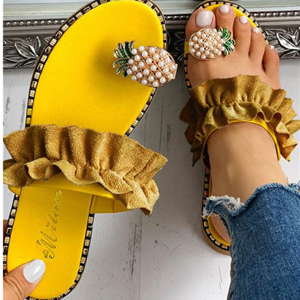 Viladress 2020 Fashion Pineapple Women Sandals Vocation Sandals Vocation Slippers