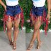 Viladress Women Hot Pants Women Shorts Denim Shorts with Tassels