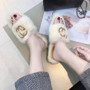 viladress Furry Women Slipper Women Flip-flops