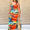 Viladress Women Dress Maxi Dress Multicolors Printing Women Maxi Dress