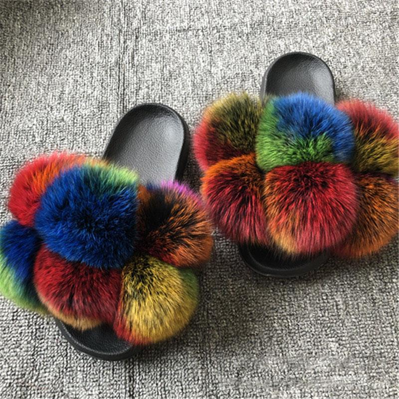 Viladress Women Slippers Furry Slippers US Women Slippers