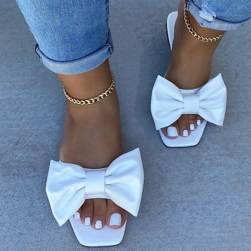 Viladress Women Slippers Bowknot Decorated Cute Sandals Women sandals Flat sandals