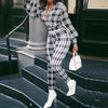 Viladress 2020 Winter Women Grid Prinitng Jumpsuits