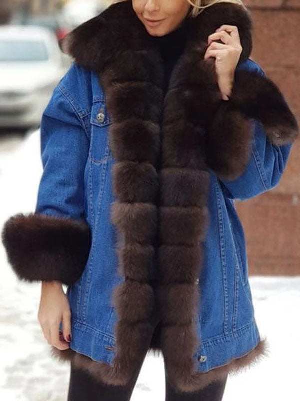 Viladress women Outerwear Women Coat Furry Coat Women Jacket