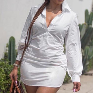 Viladress Women Shirt Plus Size Shirt Summer Shirt White Shirt Women Skirt Dress