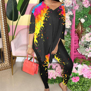 Viladress  Women Outfits At-home outfits Multicolors Printing Womne Outfits