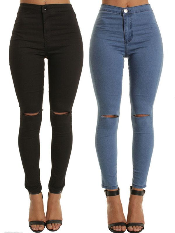 Viladress Ripped Holes Women Jeans