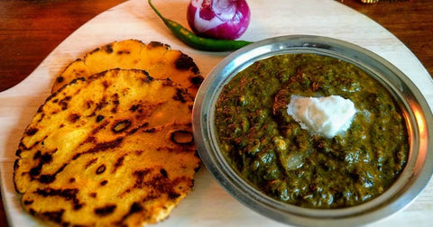 Makki ki roti and sarso ka saag, Punjab Tradition Dish