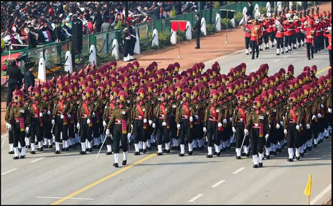 Watching the Republic Day Parade with the whole family