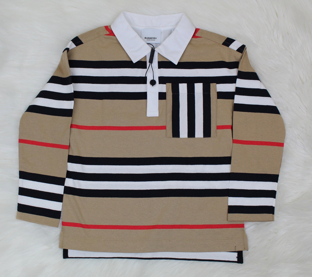 BURBERRY LONG SLEEVE PRINT SHIRT SIZE 6Y