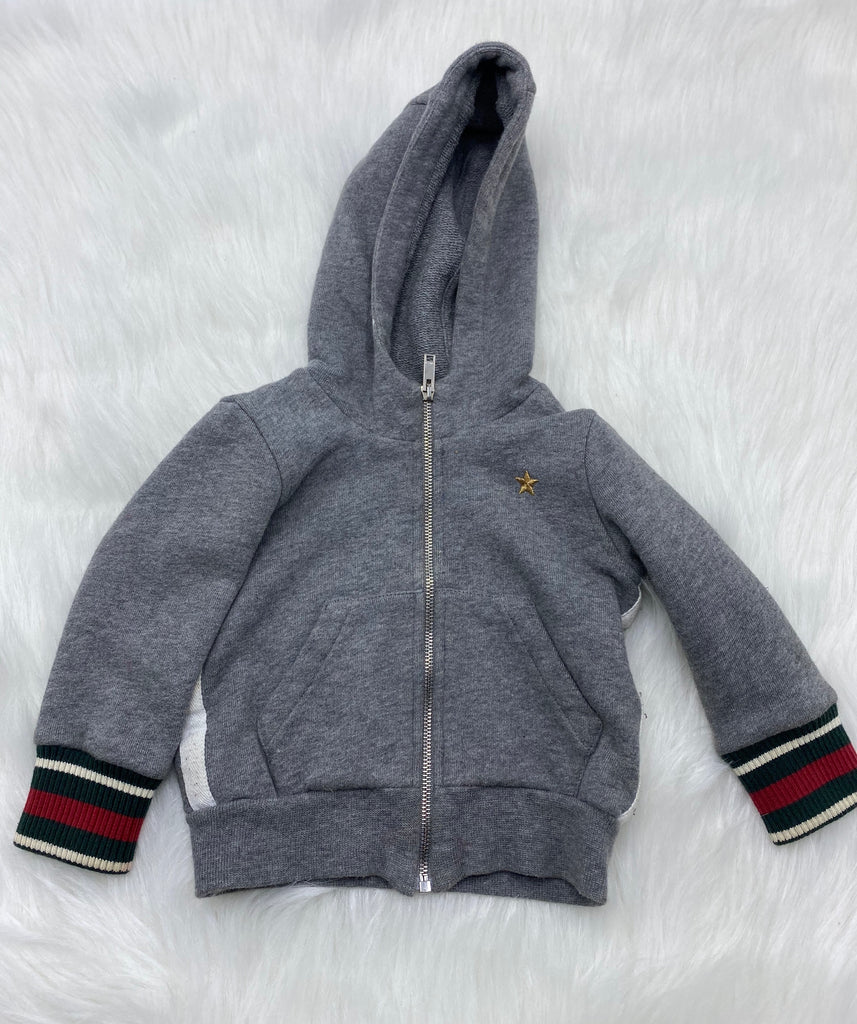 Gucci kids hooded sweater size 3/6 months