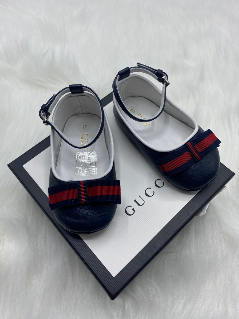 Gucci navy  baby girl shoes size 17