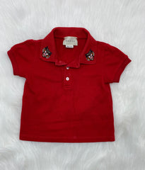 Gucci polo shirt size 6/9 months