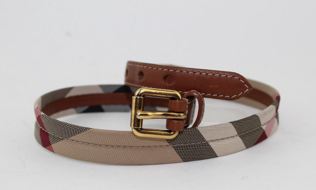Burberry belt size 24/60 fits age 4-6