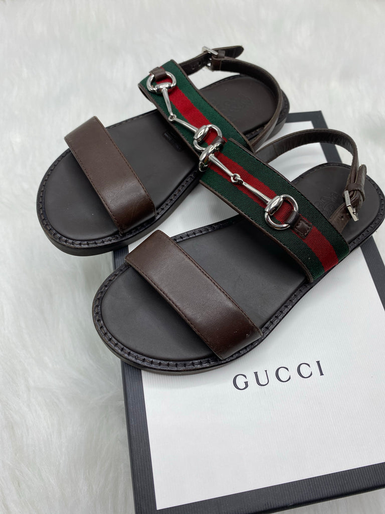 Gucci kids sandals size 29/12c