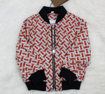 BURBERRY RED AND WHITE JACKET