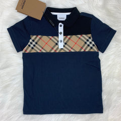 BURBERRY NAVY POLO SHIRT SIZE 6Y