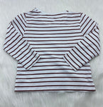 Burberry girls striped LS shirt size 3y