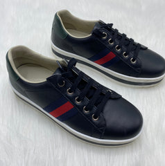 Gucci shoes red/blue stripe size 33