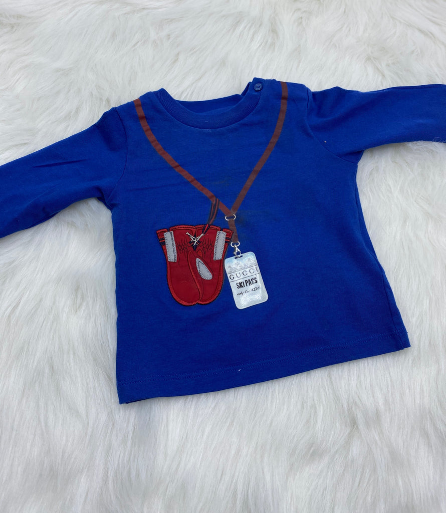 Gucci Ski Pass long sleeve tee size 6/9 months