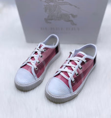 Burberry Pink Checkered Low Top Shoes size 30