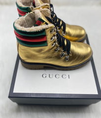 Gucci Girls Gold Boots size 31