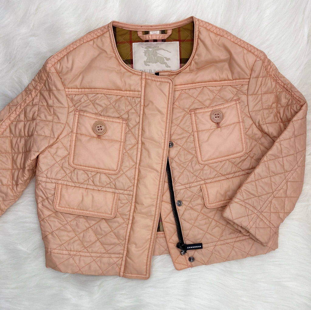 BURBERRY GIRLS TOLLAMO QUILTED JACKET SIZE 6Y