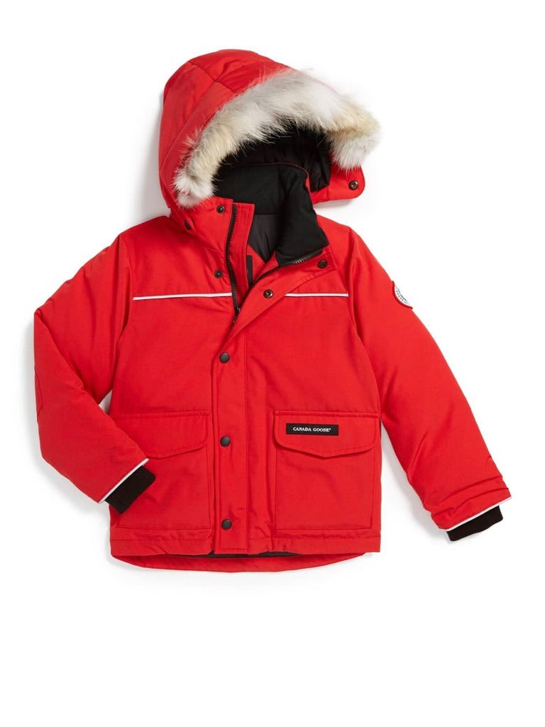 Canada Goose boy size 6/7 Small with detachable fur