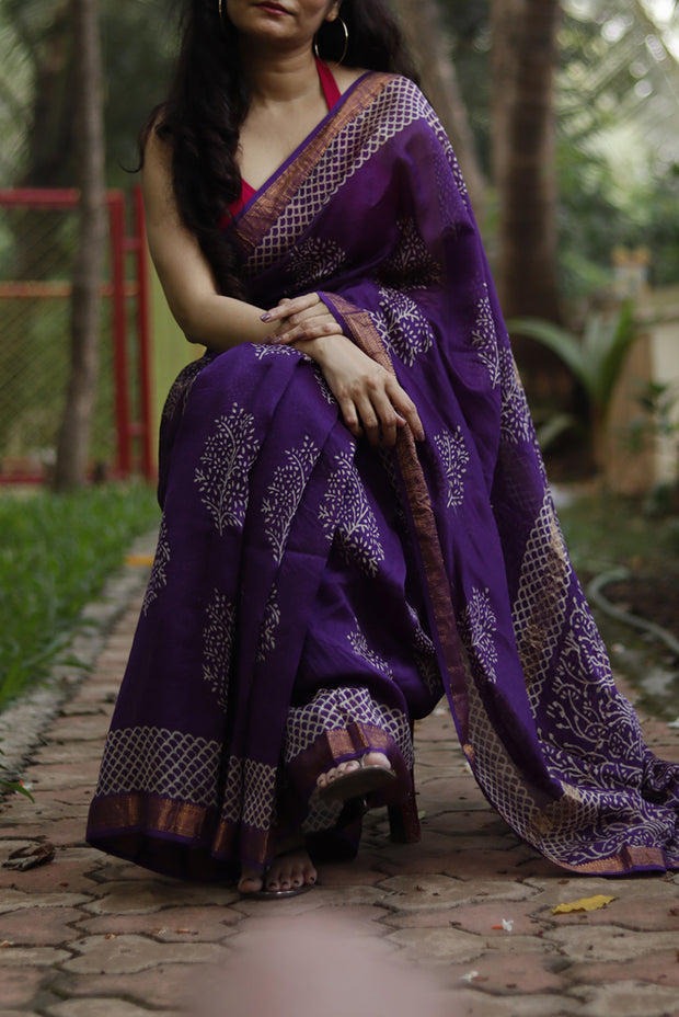 Posh & Purple <sup> (Maheshwari Silk)</sup>