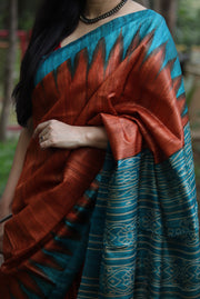 Colour of Autumn <sup> (Ghicha Tussar Silk)