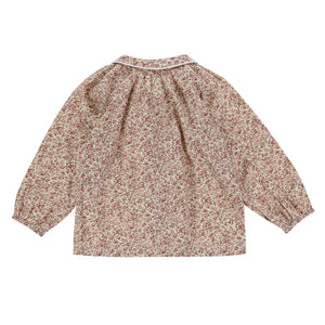 ANNIE BLOUSE – VINTAGE ROSE FLORAL - Little Cotton Clothes