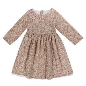 GRACE DRESS – VINTAGE ROSE FLORAL - Little Cotton Clothes